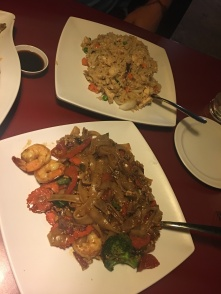 Drunken Noodle and Fried Rice